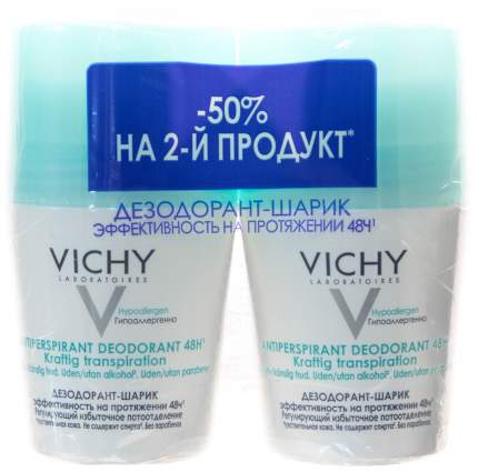 Дезодорант Vichy Регулирующий избыточное потоотделение 50 мл 2 шт
