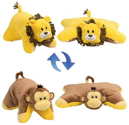 Подушка 1 Toy Вывернушка плюшевая Лев Обезьянка