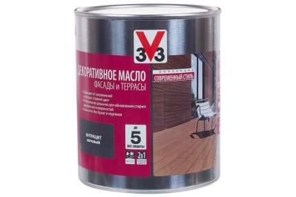 Декоративное масло 3V3 для деревянных фасадов и террас 2.5л венге