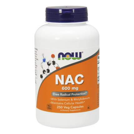 NOW NAC 600 мг with Selenium and Molybdenum (250 капсул)