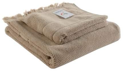 Полотенце для рук с бахромой бежевого цвета Essential 50х90