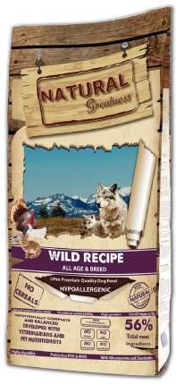 Сухой корм для собак Natural Greatness Wild Recipe, все породы, с дичью, 18 кг