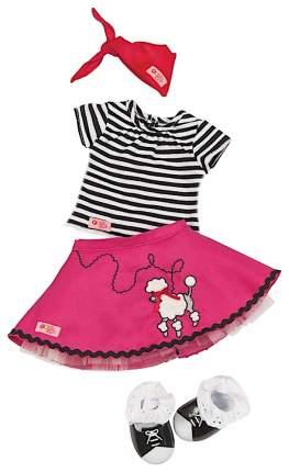 Комплект одежды для кукол Our Generation Dolls с юбкой с пуделем
