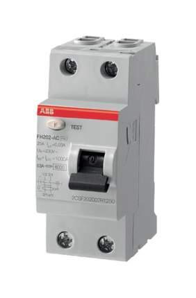 """Выключатель дифференциального тока (УЗО) ABB """"FH202"""", 2п, 63 А, 30 мА, тип AC"""
