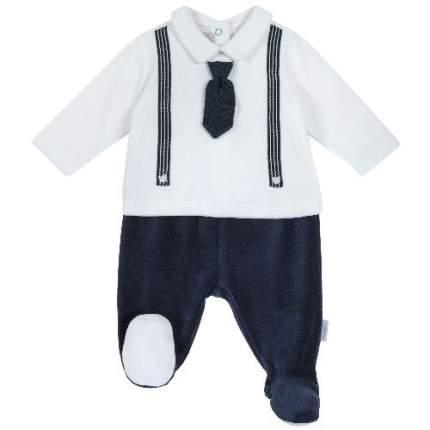 Комплект (кофта+брюки) Chicco для мальчиков р.62 цв.белый; синий