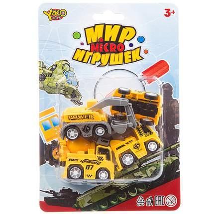 Набор инерц. строит. машин 4 шт.,серия  Мир micro Игрушек, CRD 13,5х20 см, арт.M7618-2.