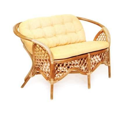 Плетеный диван для дачи ЭкоДизайн 1305С Коньяк