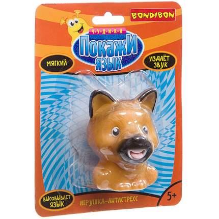 "Игрушка-антистресс Bondibon ""Покажи язык. Собака коричневая"""