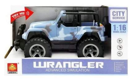 Джип Junfa toys голубой 1:16 световые и звуковые эффекты