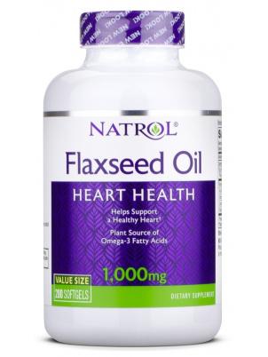 Natrol Flax Seed Oil 1000mg 200caps (200 капс.)