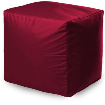 Бескаркасный пуф-куб ПуффБери Квадратный one size, оксфорд, Бордовый