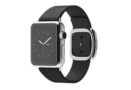Apple Watch 38 мм, черный ремешок с современной пряжкой 145-165 мм
