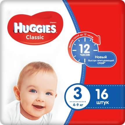 Подгузники Huggies Classic 3 (4-9 кг), 16 шт.