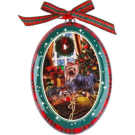 Декорация новогодняя Mister Christmas Йоркширский терьер 1 шт 11 см
