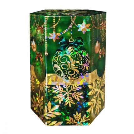 Чай ИМЧ сияние праздника шестиугольник зеленый черный листовой 75 г