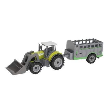 Машинка металлическая Автопанорама трактор с прицепом  JB1251069