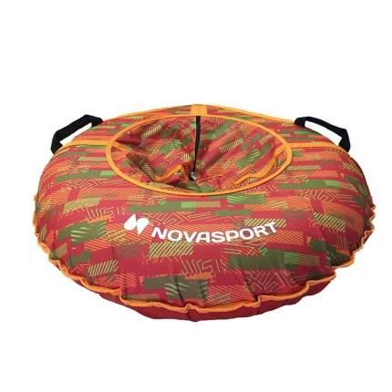 Тюбинг NovaSport 110 см без камеры CH030.110 красный/красная абстракция