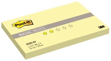Блок самоклеящийся Post-it Basic 655R-BY Желтый 100 шт