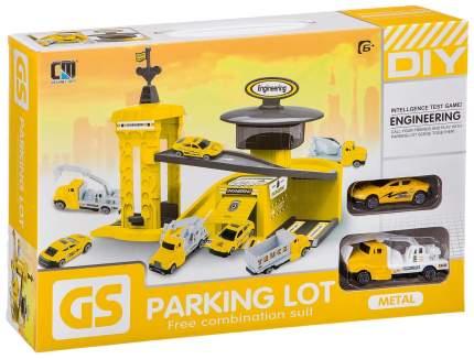 Набор строительная парковка, 2 шт. мет. машины, ВОХ 39,7х8х26,5 см, 4 вида