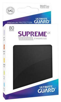 Протекторы Ultimate Guard, черные Supreme UX Sleeves Standard Size Black