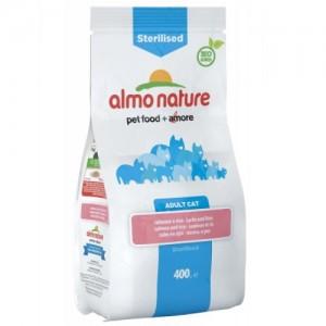 Сухой корм для кошек Almo Nature Adult Sterilised для стерилизованных, лосось, рис, 0,4кг