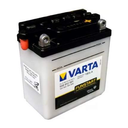503012001_аккумуляторная Батарея! Евро 3ah 30a 100/58/112 Yb3l-A Moto Varta
