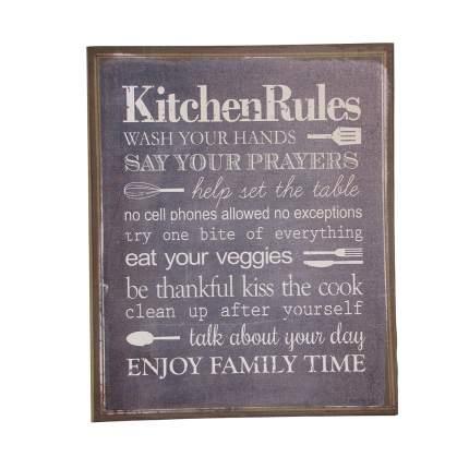 Настенное панно Правила кухни