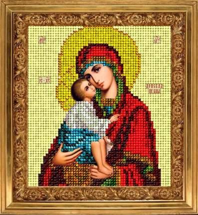 Набор для вышивания ювелирным бисером Краса и творчество 20114 Донская икона 9,8х11 см