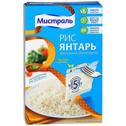 Рис Мистраль янтарь пропаренный длинозернистый 80 г 5 пакетиков