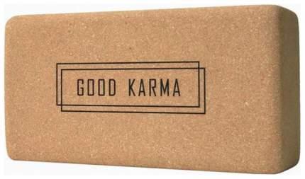 Кирпич для йоги Yoga Club из пробки с принтом Good Karma