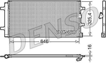 Радиатор кондиционера Denso DCN02041