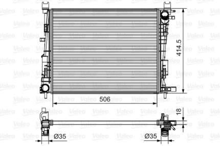 Радиатор Valeo 701514