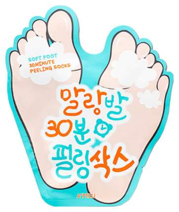 Маска для ног A'Pieu Soft Foot 30 Minute Peeling Socks 40 г