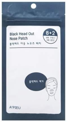Патчи для очищения кожи A'Pieu Black Head Out Nose Patch Set 10 шт