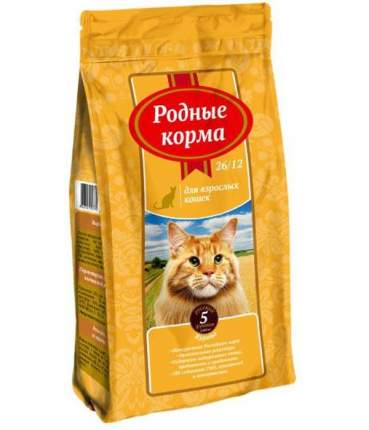 Сухой корм для кошек Родные корма, курица, 2,045кг