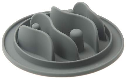 Интерактивная миска для собак V.I.Pet, силикон, серый, 15 см