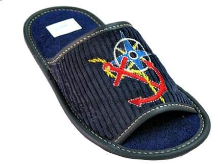 Тапочки Рапана детям синие Якорь 34 размер