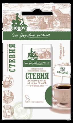 Заменитель сахара стевия  Bionova 150 таблеток