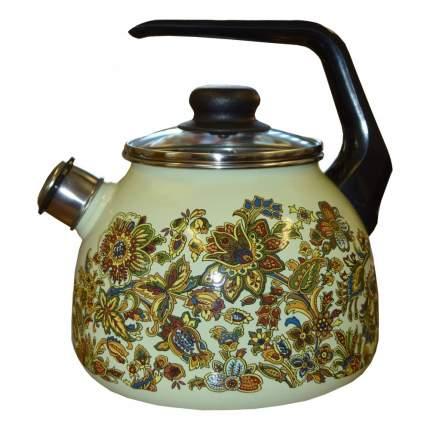 Чайник для плиты СТАЛЬЭМАЛЬ 1RC12 Imp, салатовый 3 л