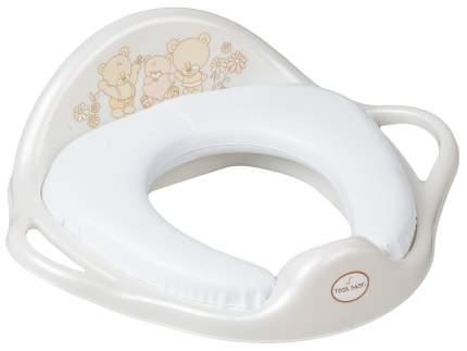 Накладка на унитаз Tega Baby мягкая Мишка белая