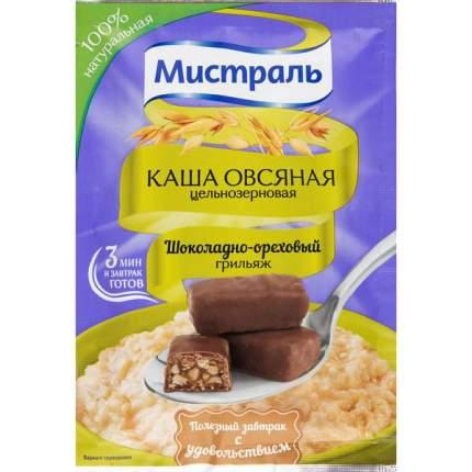 Каша овсяная цельнозерновая Мистраль шоколадно-ореховый грильяж 40 г