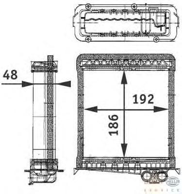 Теплообменник, отопление салона легковой автомобиль Hella 8FH351311-751