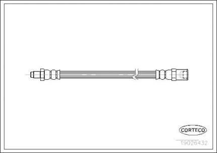 Шланг тормозной системы CORTECO 19026432