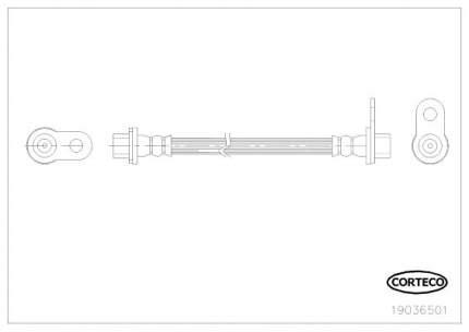 Шланг тормозной системы CORTECO 19036501
