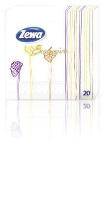 Салфетки Zewa exclusive decor полоски 3 слоя 20 штук