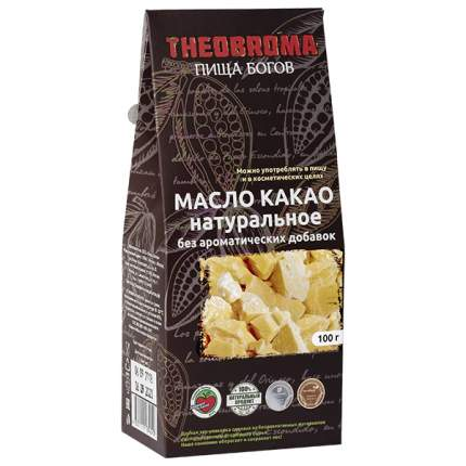 Какао масло Theobroma Пища богов натуральное 100 г