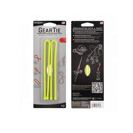 Набор гибких стяжек Nite Ize Gear Tie 12 GT12-2PK-16 желтый