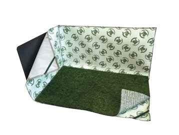 Коврик PoochPad с искусственой травой, оградой и пеленкой