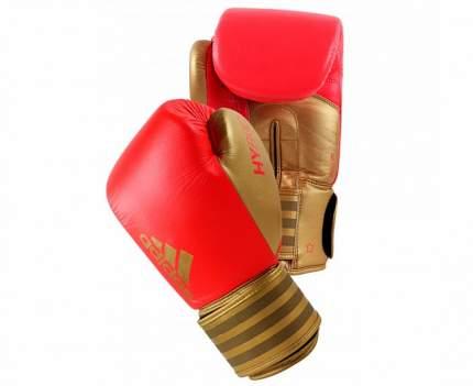 Боксерские перчатки Adidas Hybrid 200 красные/золотые 10 унций