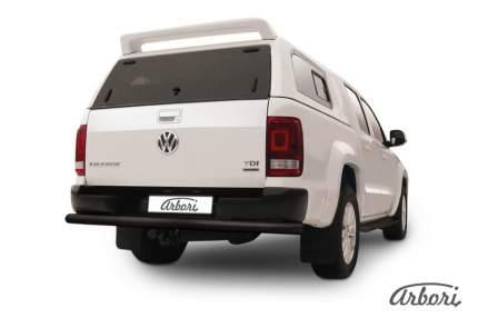 Защита заднего бампера d76 Arbori черный для Volkswagen AMAROK(2013) 2013-2016
